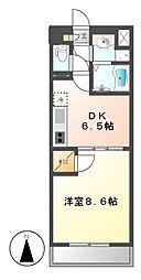 セローム亀島[5階]の間取り