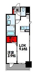 レスポワール 2階1LDKの間取り