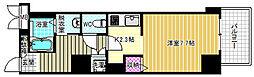 イーストヴィラ梅田 4階ワンルームの間取り