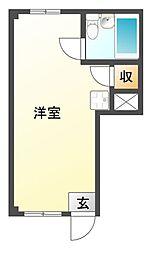 カネマンビル[3階]の間取り