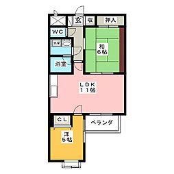 ライオンズマンション鶴舞第2[3階]の間取り