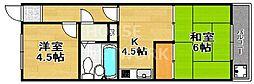 シャンクレール春日II[312号室号室]の間取り