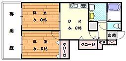ブライドハウス[1階]の間取り
