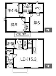 [一戸建] 埼玉県鶴ヶ島市柳戸町 の賃貸【/】の間取り
