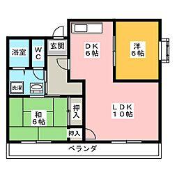 ファミール原境[1階]の間取り
