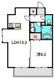 Osaka Metro谷町線 大日駅 徒歩5分の賃貸マンション 5階1LDKの間取り