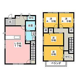 [一戸建] 岡山県岡山市中区西川原 の賃貸【/】の間取り