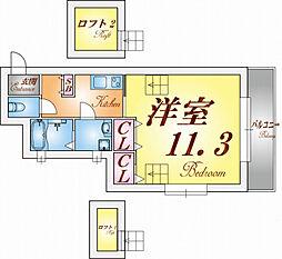 ワコーレヴィアーノ須磨寺町[201号室]の間取り