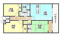 岡山県岡山市中区湊丁目なしの賃貸マンションの間取り