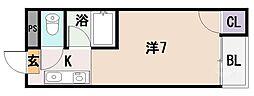 林マンション[201号室]の間取り