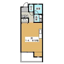 M・Kフラッツ[2階]の間取り