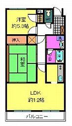 ラ・プラージュ[3階]の間取り