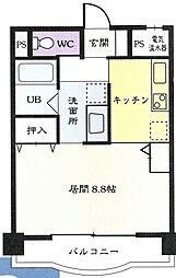 JR奥羽本線 高擶駅 徒歩13分の賃貸マンション 3階1Kの間取り