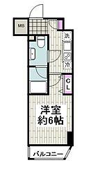 京急本線 日ノ出町駅 徒歩2分の賃貸マンション 1階1Kの間取り