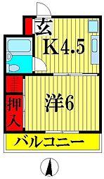 川口昭和ビル[2階]の間取り