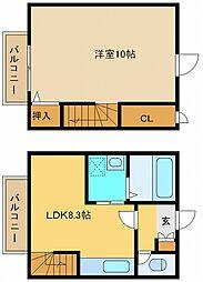 兵庫県神戸市垂水区星陵台7丁目の賃貸アパートの間取り