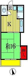 松和荘[2階]の間取り