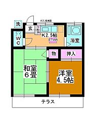 ヨシノハイツ[102号室]の間取り