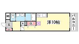 S-FORT 神戸神楽町[507号室]の間取り