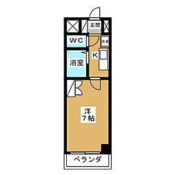 京卓ハイツ[4階]の間取り