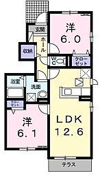 ビアンカローザ[1階]の間取り