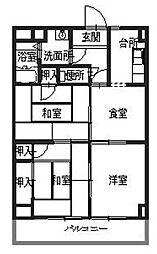 メゾンヒカリ[4階]の間取り