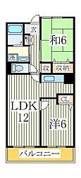 アルトウッズ35[1階]の間取り