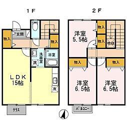 [テラスハウス] 東京都東久留米市前沢2丁目 の賃貸【/】の間取り