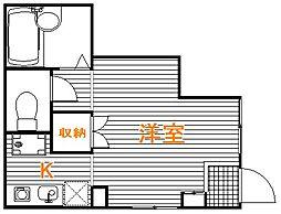 東京都練馬区氷川台1丁目の賃貸アパートの間取り