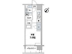 JR京葉線 越中島駅 徒歩9分の賃貸マンション 4階1Kの間取り