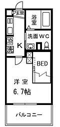 テルトルルージュIII(テルトルルージュ3)[3階]の間取り