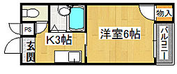 クワイエット赤井[1階]の間取り