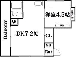 東京都北区東十条5丁目の賃貸マンションの間取り