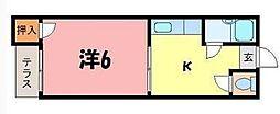 コーポ副田[105号室]の間取り