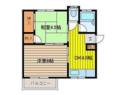 白石ハウス[2階]の間取り