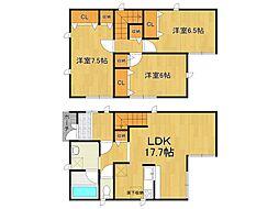 [タウンハウス] 兵庫県西宮市段上町7丁目 の賃貸【/】の間取り