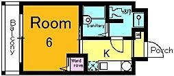 サニーハウス[601号室号室]の間取り