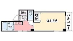 竹下ハイツ[4階]の間取り
