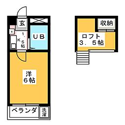 リージェント千代田[1階]の間取り