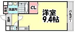 大阪府泉大津市春日町の賃貸アパートの間取り