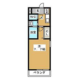 モラリエ西高蔵[1階]の間取り