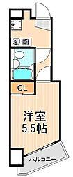東京都台東区三ノ輪2丁目の賃貸マンションの間取り