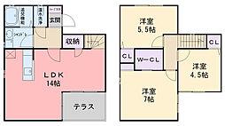 [一戸建] 福岡県糸島市前原駅南3丁目 の賃貸【/】の間取り