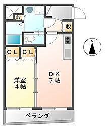 [テラスハウス] 兵庫県西宮市本町 の賃貸【/】の間取り