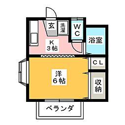 マウンテンハウス鴻ノ巣[1階]の間取り