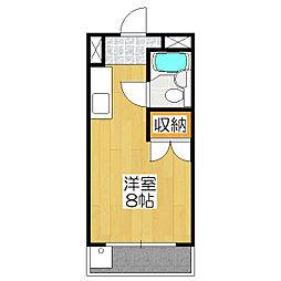 タケトミ観月橋[102号室]の間取り