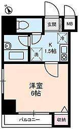 東京都台東区東上野4丁目の賃貸マンションの間取り