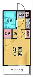 ミヤクレール百草[203号室]の間取り