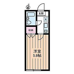 Studio Fujita[0102号室]の間取り