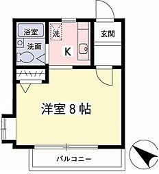 タウンハウス菊野台[102号室]の間取り